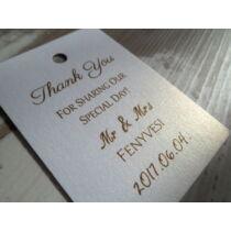 Esküvői üvegcímke
