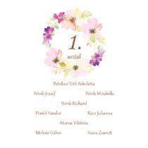 Esküvői asztalszám - 3. kategória