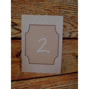 Esküvői asztalszám - 1. kategória