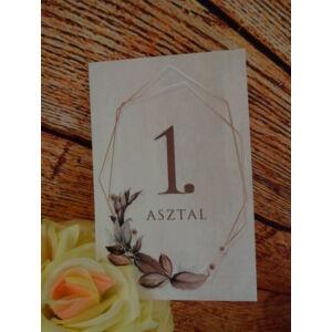 Esküvői asztalszám - 2. kategória