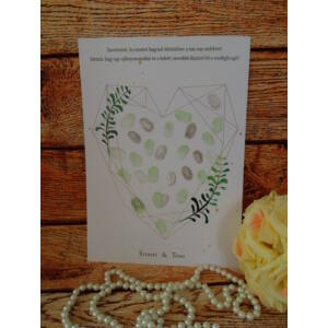 Esküvői ujjlenyomatfa - 2. kategória