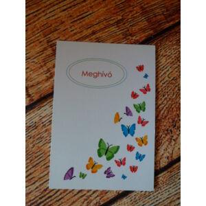 Ballagási meghívó - színes pillangóval