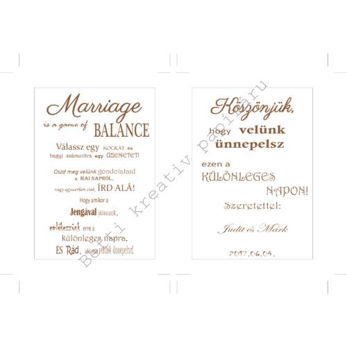 Esküvői felirat - 1. kategória