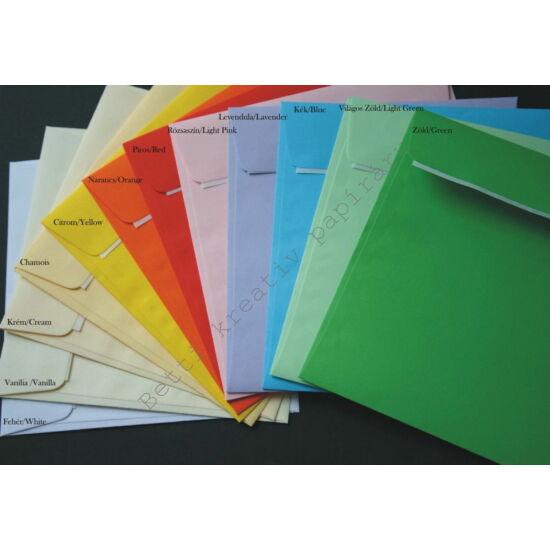 14x14 cm színes boríték