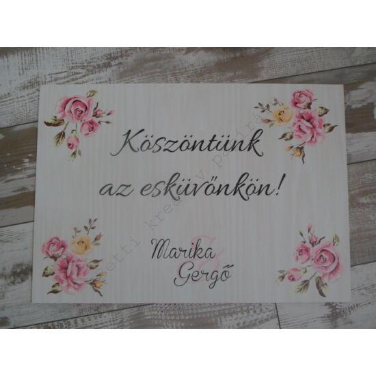 Esküvői felirat - 4. kategória