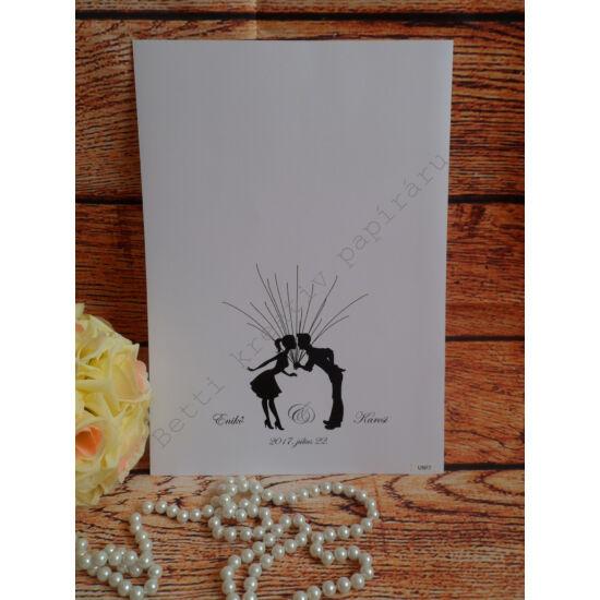 Esküvői ujjlenyomatfa - 1. kategória